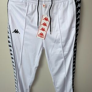 Black and white kappa pants